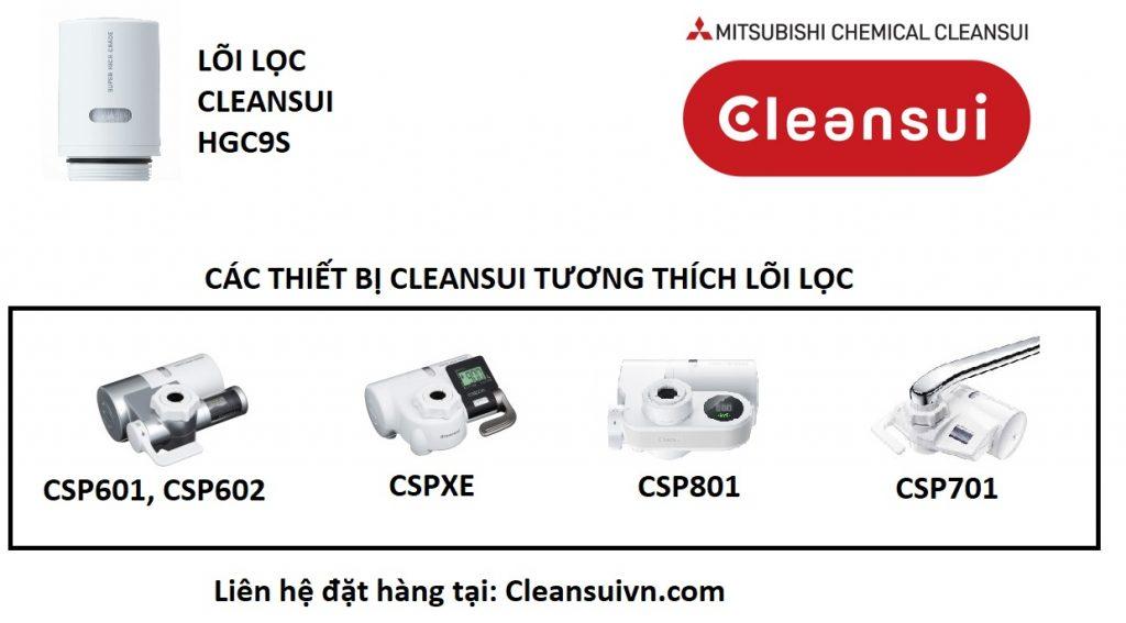 lõi lọc thay thế cleansui HGC9S