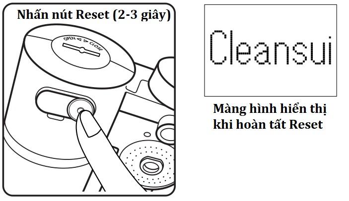 Hướng dẫn reset thiết bị lọc nước CleanSui
