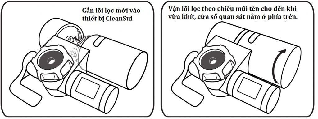 Hướng dẫn thay lõi lọc mới thiết bị lọc nước CleanSui