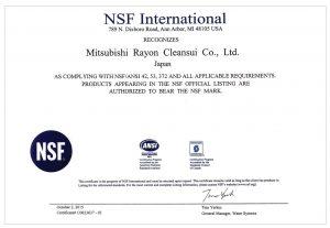 Chứng nhận NSF (National Sanitary Foundation) là Trung tâm hợp tác về An toàn Thực phẩm và Nước uống của Tổ chức Y tế Thế giới (WHO).