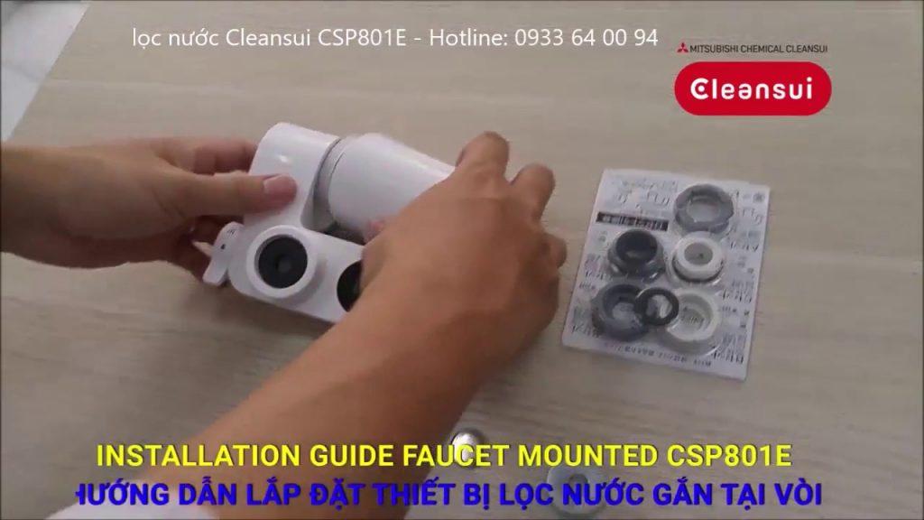 Hướng dẫn lắp đặt lọc nước Cleansui CSP801E hãng Mitsubishi Nhật Bản