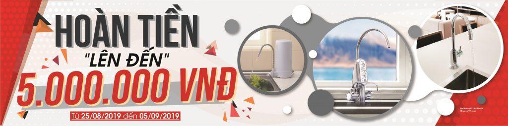 khuyến mãi máy lọc nước cleansui 2-9-2019